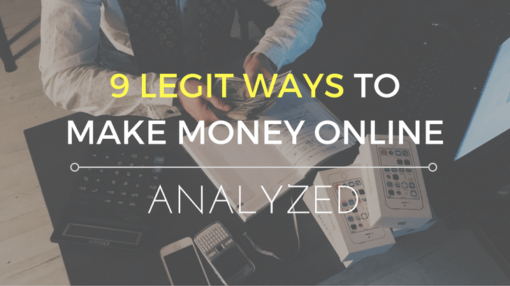 9 legit ways to make money online