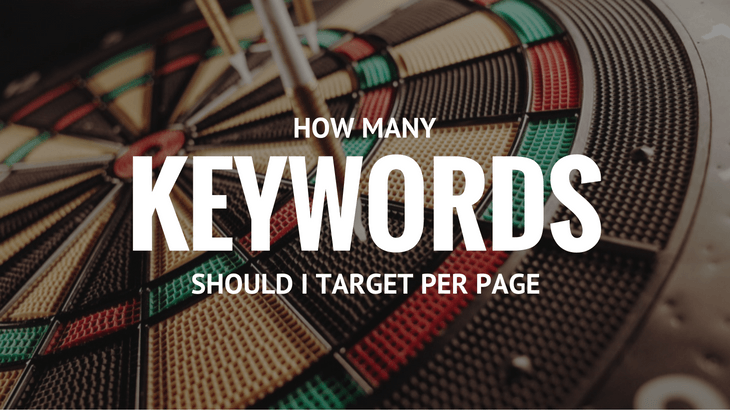 how many keywords in a page should I target