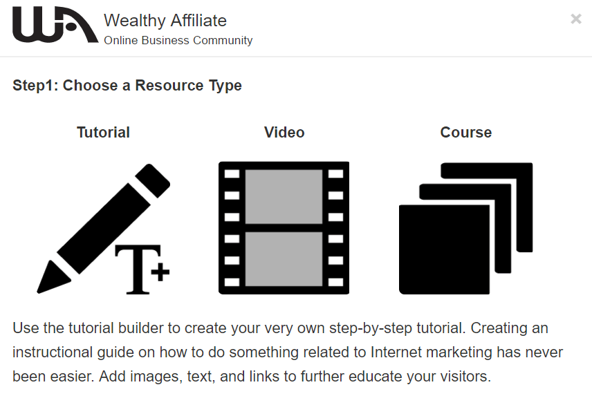 wealthy affiliate community training