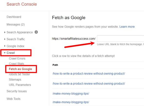 fetch as google how to
