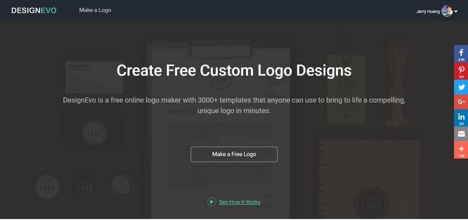 Designevo review best online logo maker 100 free for Web based home design software