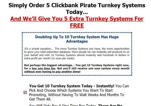 clickbank pirate upsell