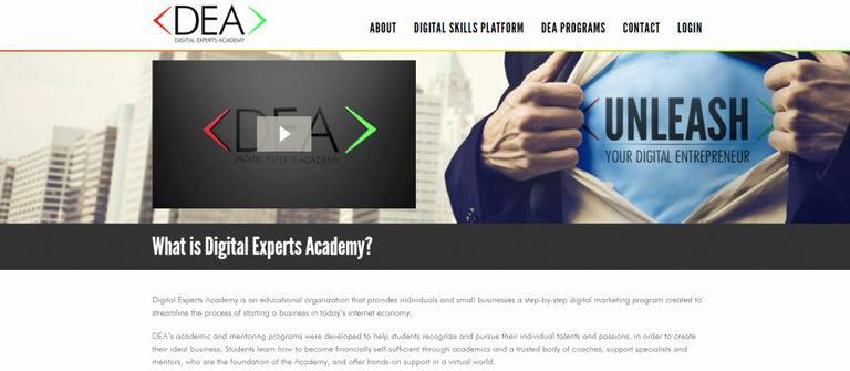 digital experts academy homepage screenshot