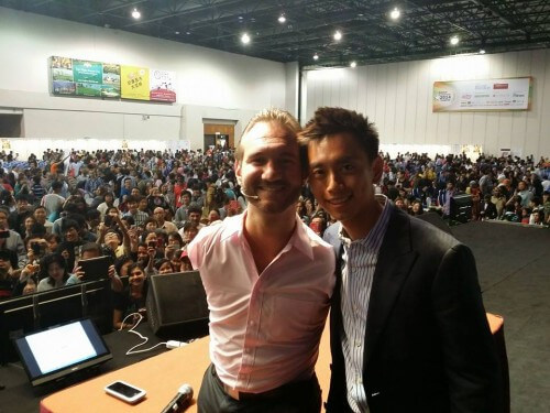 Peng Joon with Nick Vujicic