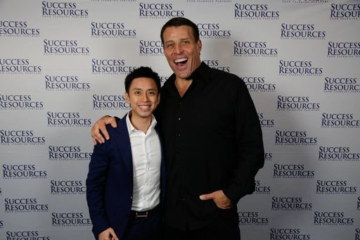 peng joon with tony robbins