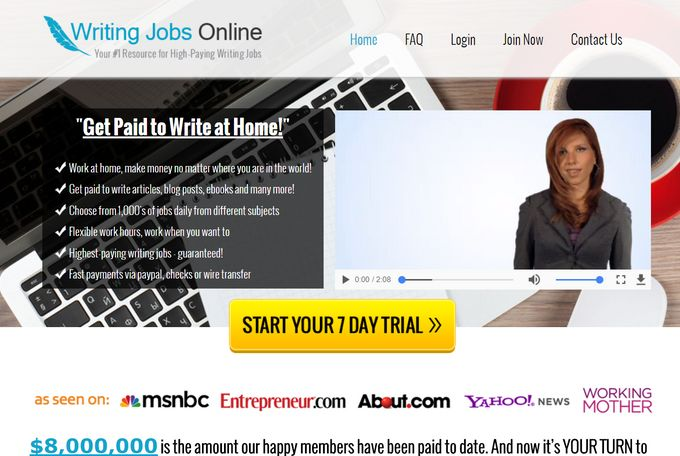 Writng Jobs Online Sales Page
