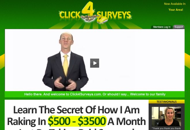 is click 4 surveys a scam