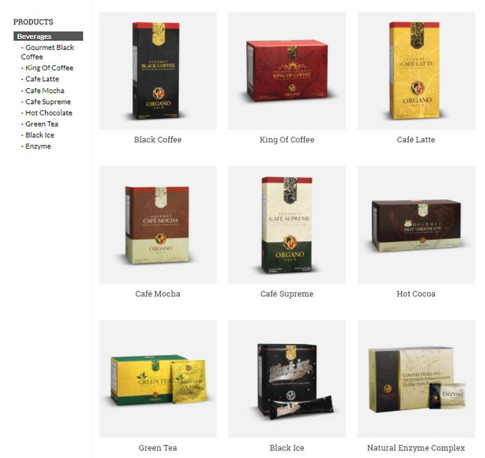 organo gold beverages
