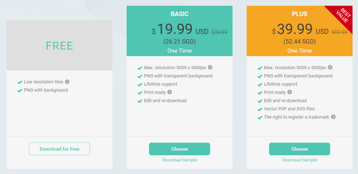 designevo pricing options