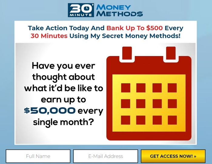 30 minute money methods scam
