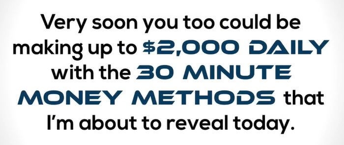 30 minute money methods fake income claim