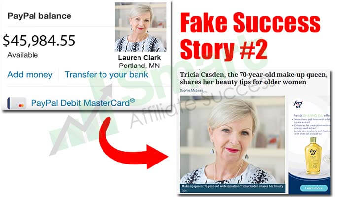 affiliate millionaire club fake success story 2