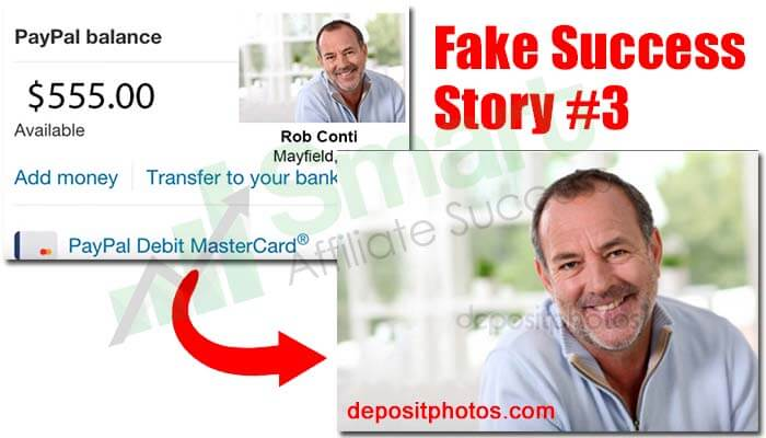 affiliate millionaire club fake success story 3