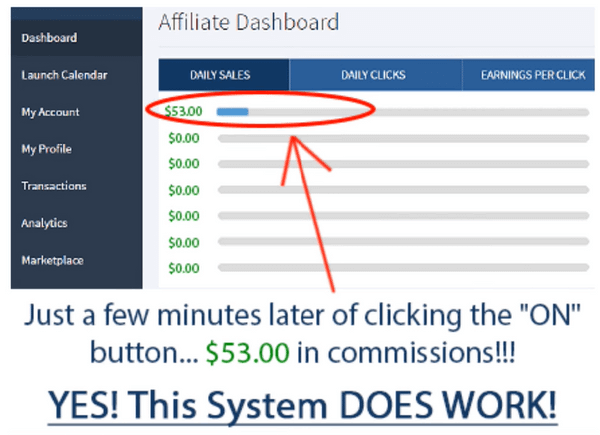 affiliate millionaire fake commission
