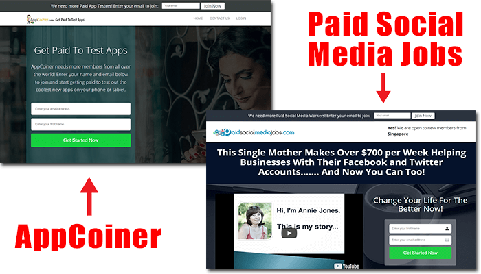 appcoiner vs paid social media jobs