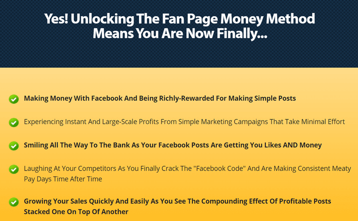 fan page money method hype