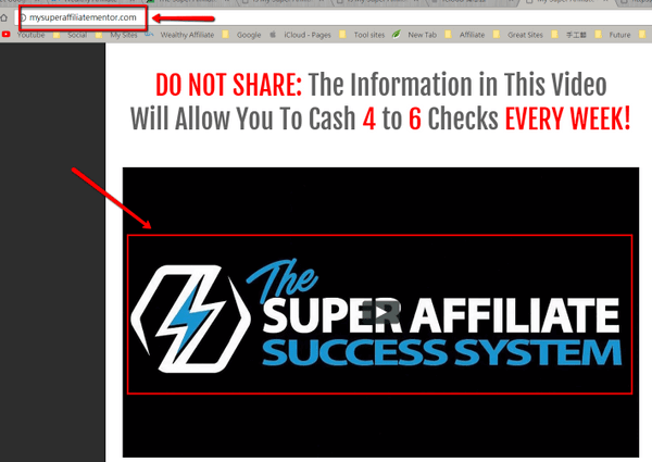 my super affiliate mentor sales page