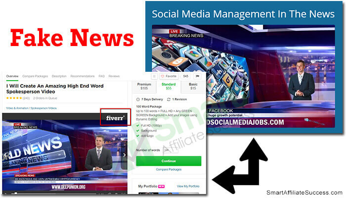 paid social media jobs fake news