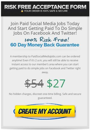 paid social media jobs price