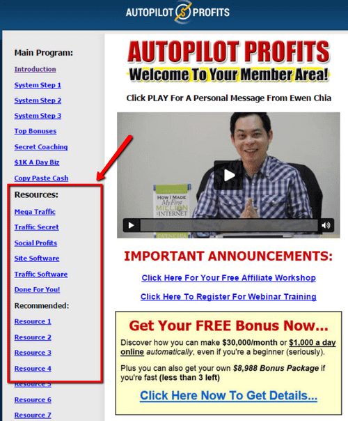 autopilot profits members area