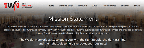 the wealth network mission