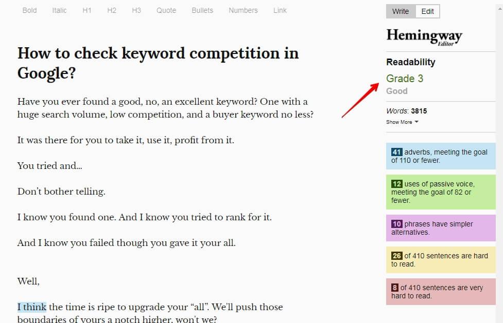 readability check