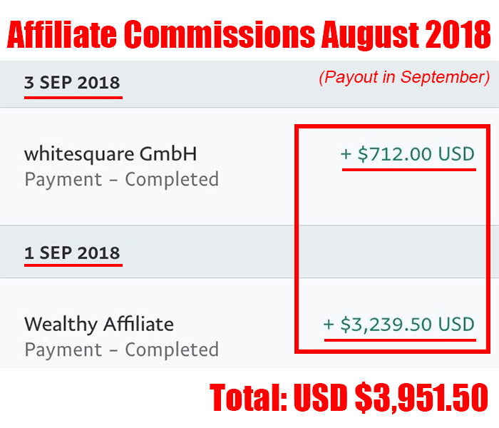 affiliate commissions aug 2018