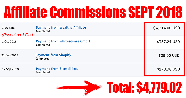 affiliate commissions sept 2018