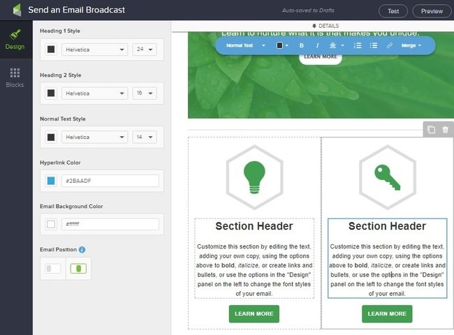 infusionsoft email builder