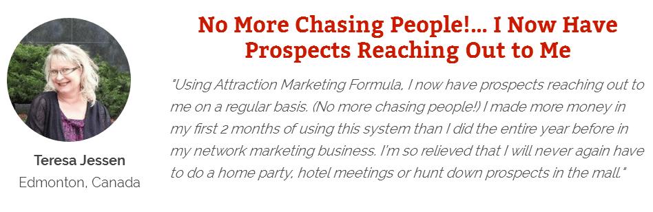 Attraction Marketing Formula - Positive Feedback