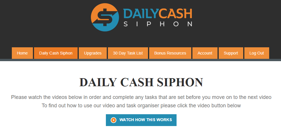 Daily Cash Siphon Homepage