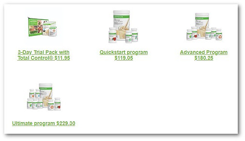 Herbalife Healthy Weight Products