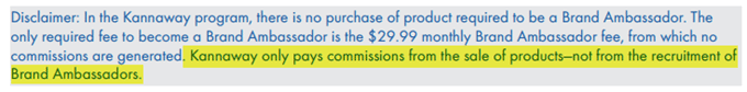 Kannaway Snippet - Compensation Plan