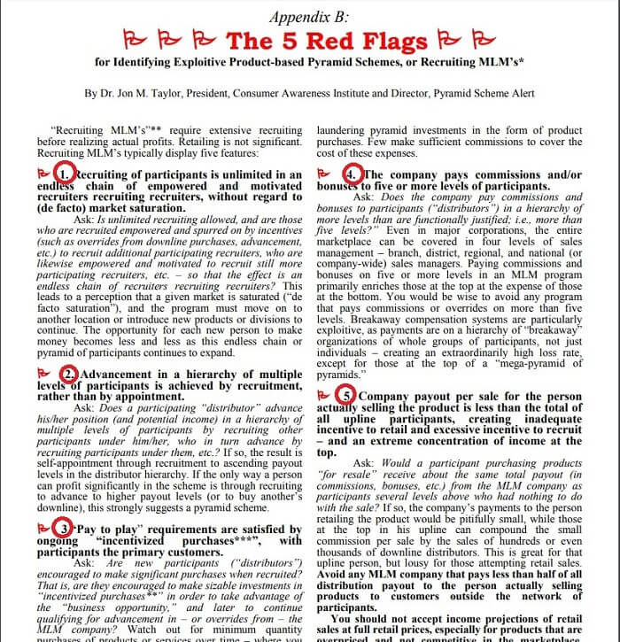Life Force International Red Flags Of Pyramid Scheme FTC