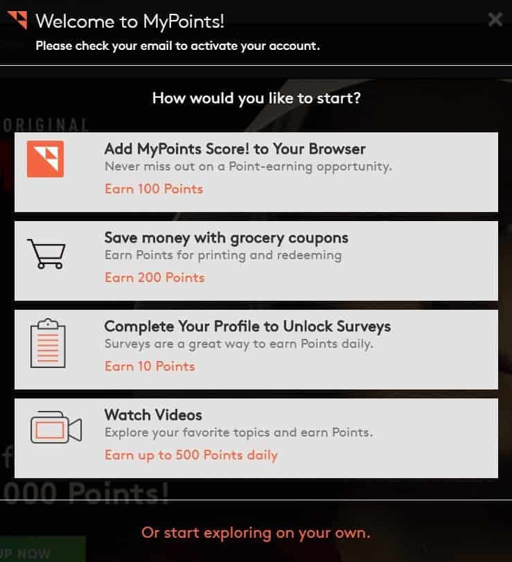 MyPoints How To Get Started
