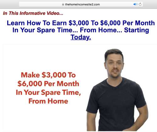 Home Income Systems Landing Page