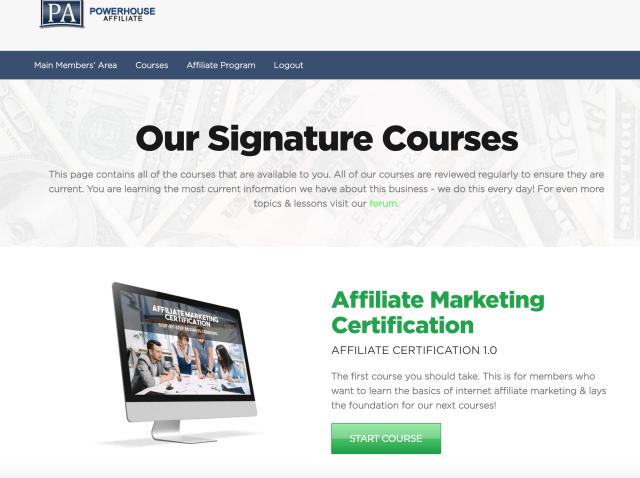 Powerhouse Affiliate Homepage