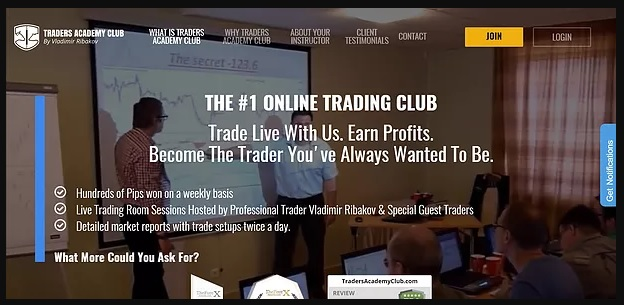 Traders Academy Club Homepage