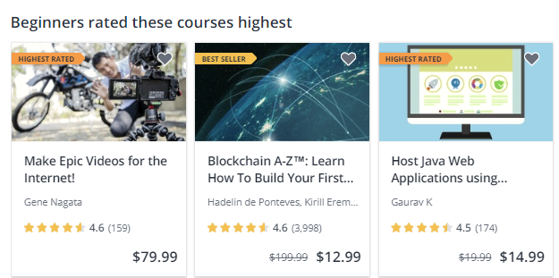 Udemy Beginners Rated These Courses Highest