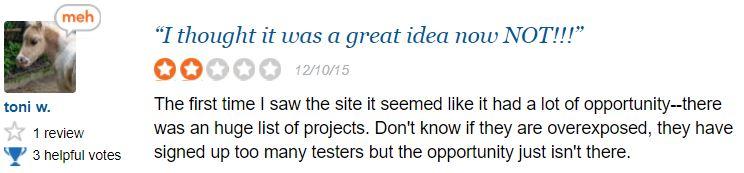UserTesting No Tests Again