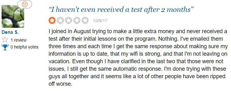 Users complain about not getting tests