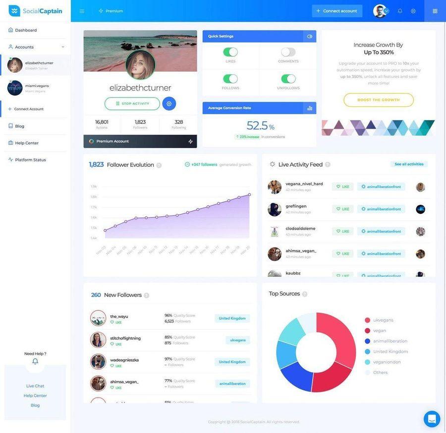 social captain interface