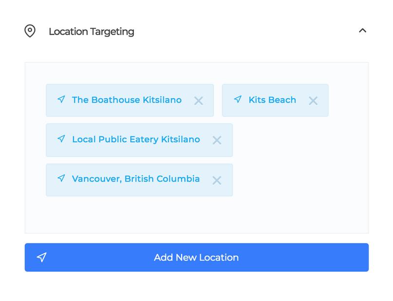 social captain location targeting
