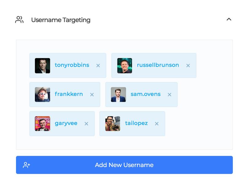 social captain username targeting