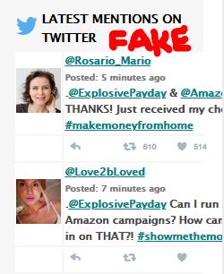 Amazon Cash Websites Fake Tweets