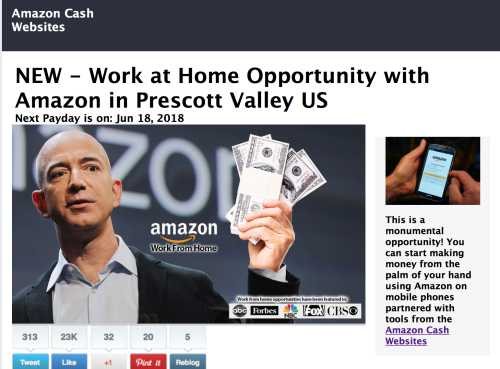 Amazon Cash Websites Homepage