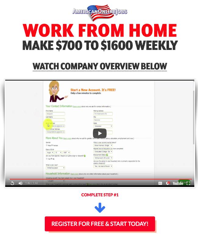 American Online Job Homepage