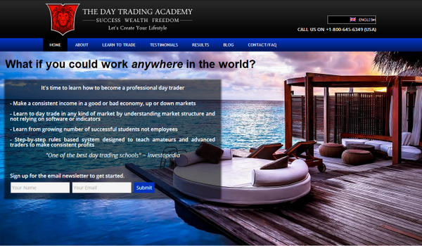 Day Trading Academy Homepage