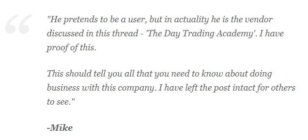 Day Trading Academy Webmaster Statemetn