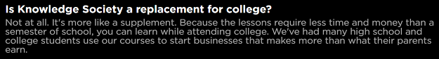 Knowledge Society Disclaimer For College Education